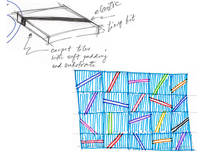 Sketch: elastic foot/hand rails